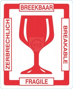 breekbaar, etiket, label, doculops
